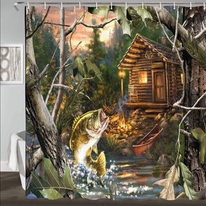 Other - Fish Cabin Camp Forest Shower Curtain